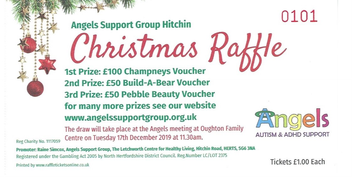 Angels Christmas Raffle Angels Support Group